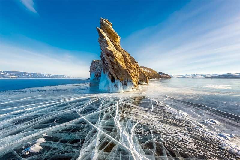 lago helado rusia