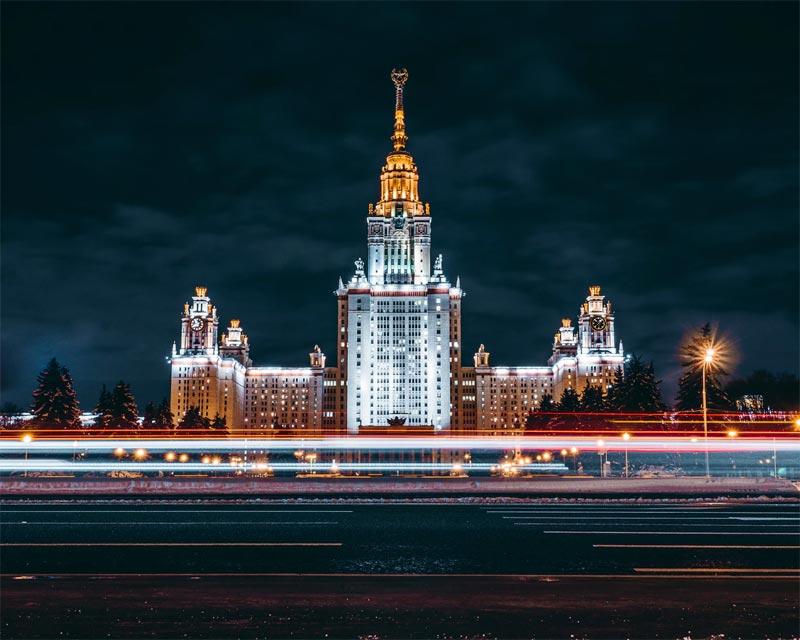 moscu noche rusia