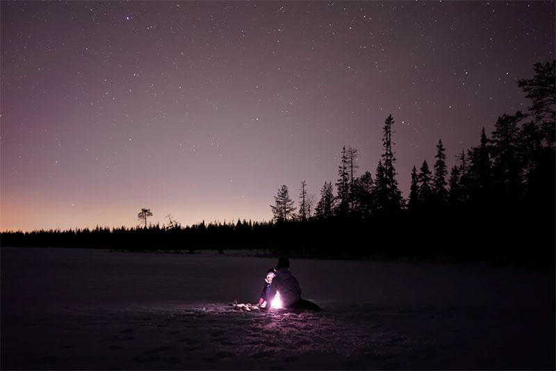 rovaniemi nieve horas luz