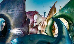 Carrusel de vidrio de mar