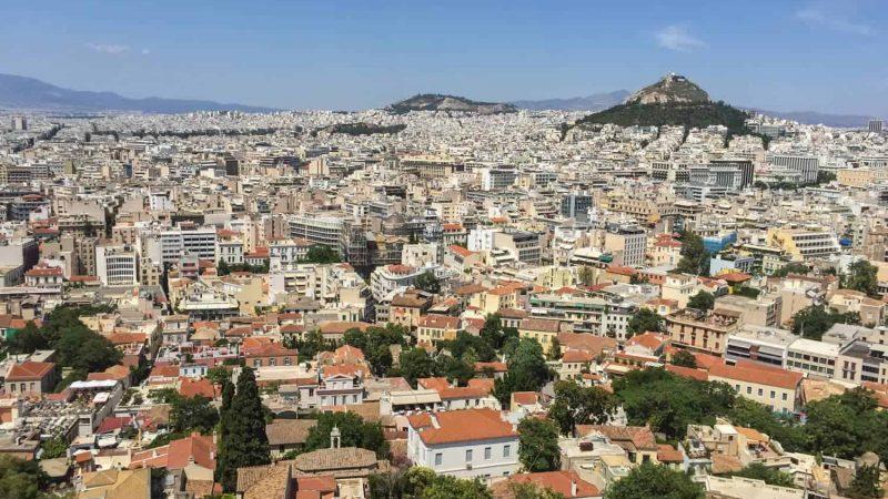 Mirador de la ciudad de Atenas