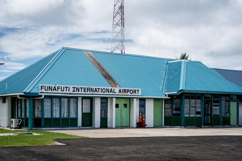 El aeropuerto de Funafuti en Tuvalu.