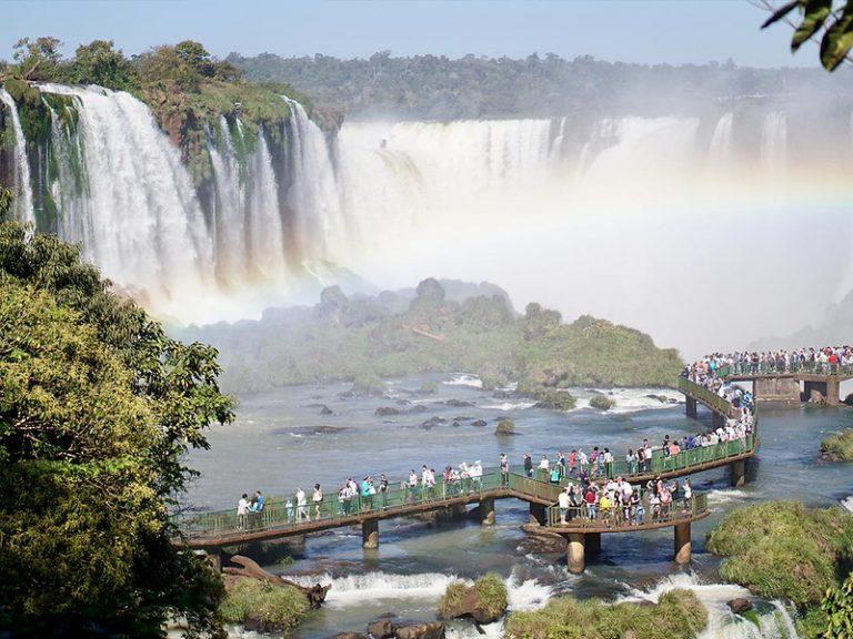 La Garganta del Diablo está tanto en Brasil como en Argentina.