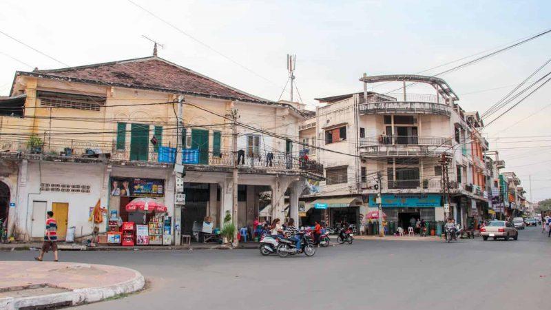 Ciudad de Kampong Cham en Camboya