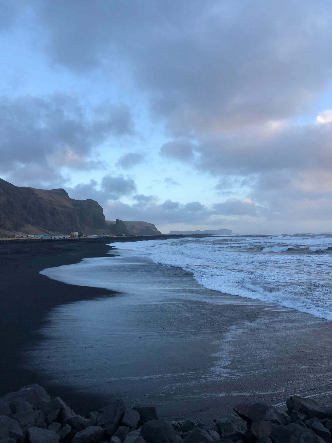 Vik: playas de arena negra y glaciares