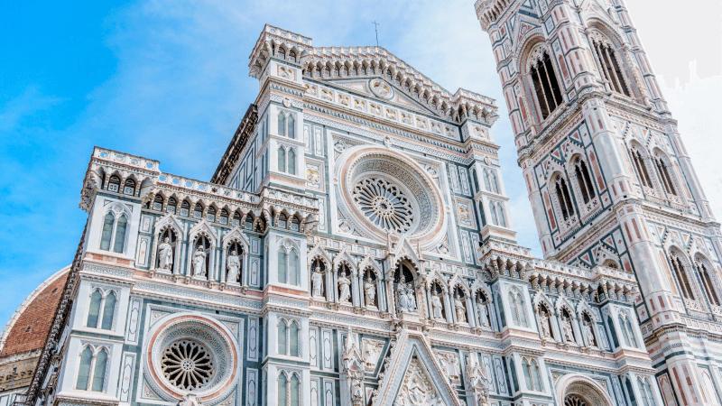 Visitando el Duomo en Florencia.