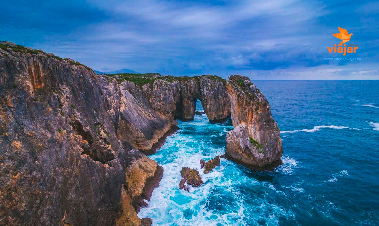 Bufones de Pría y Playa Guadamía en Asturias