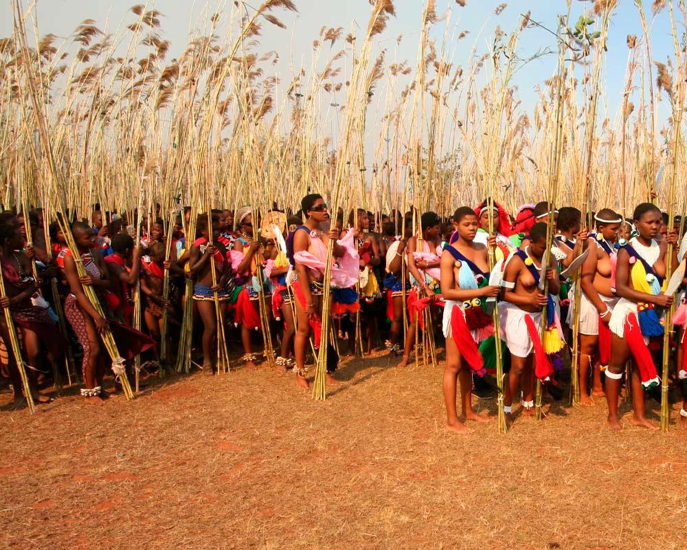 Baile anual de caña en Suazilandia