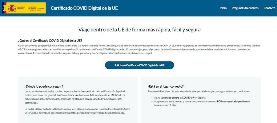 Certificado COVID Digital Europeo,
