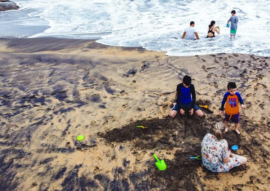Playas en la costa de Oaxaca